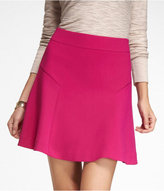 Express Woven High-Waist Fit And Flare Mini Skirt