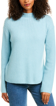 Vince Ribbed Raglan Wool & Cashmere-Blend Pullover