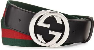 Gucci Web Belt w/Interlocking G