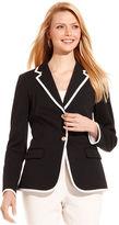 Charter Club Jacket, Contrast-Trim Blazer