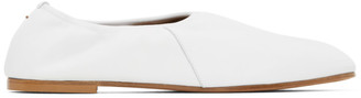 Emme Parsons White High Throat Ballerina Flats