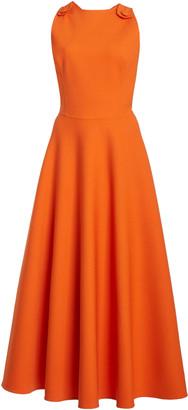 Oscar de la Renta Cross Back Wool-Blend Dress