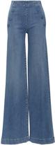 Frame Le Capri Button High Rise Jeans