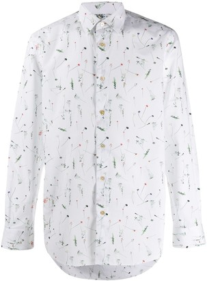 Paul Smith Cut Flowers-print tailored-fit shirt