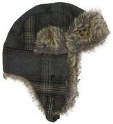 Hudson North Plaid Faux Fur Trapper Hat