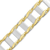 Zales Men's 10.5mm Fashion Link Bracelet in 10K Two-Tone Gold - 8.75""