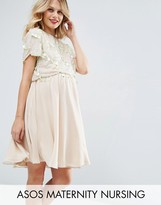 ASOS Maternity - Nursing ASOS Maternity NURSING Deco Embellished Skater Dress