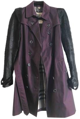 Burberry Purple Fur Coat for Women