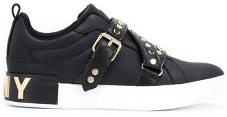 DKNY Studz buckled low-top sneakers
