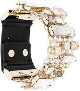 Lanvin encrusted chain bracelet
