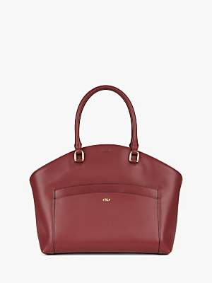 Jaeger Leather Tote Bag, Red