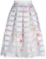 Ted Baker Rosaley Chelsea Grey Midi Skirt