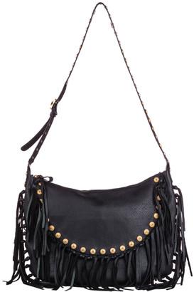 Valentino Black C-Rockee Leather Hobo Bag