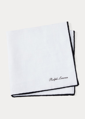Ralph Lauren Tipped Linen Pocket Square