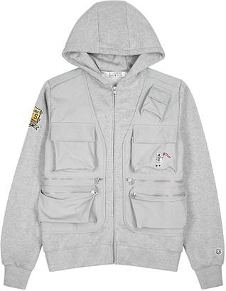 Billionaire Boys Club Grey hooded shell and jersey jacket