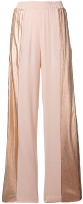 Nude Sequin Track Trousers