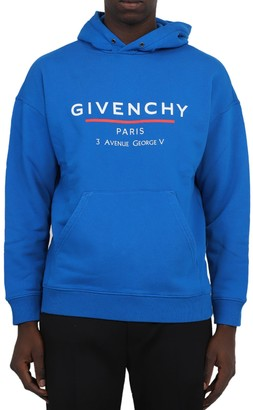 Givenchy Blue Logo Hoodie