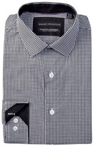 Report Collection Long Sleeve Slim Fit Stretch Gingham Dress Shirt