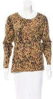 Dries Van Noten Leopard Print Long Sleeve Top