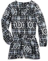 Pinc Premium Girls' Geo Print Romper - Sizes S-XL