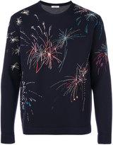 Valentino fireworks embroidered sweatshirt
