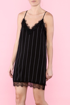 Honey Punch Black Slip Dress With Lace