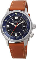 Bruno Magli Men's VITTORIO 41mm Watch w/ Italian Leather Strap, Tan