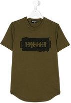 DSQUARED2 logo printed T-shirt - kids - Cotton - 16 yrs