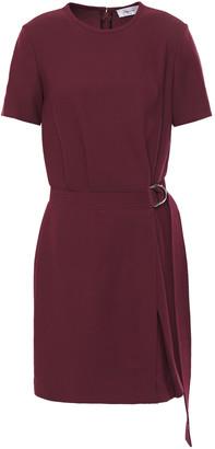 Carven Belted Crepe Mini Dress