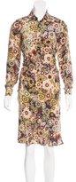 Barbara Bui Floral Silk Dress