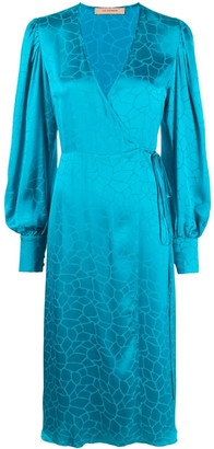 Andamane Crocodile Print Wrap Dress