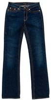 Roberto Cavalli Accented Straight Leg Jeans