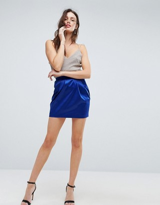 Asos DESIGN satin tulip mini skirt