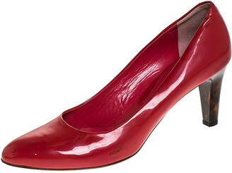 Bally Pink Patent Leather Round Toe Pumps Size 41