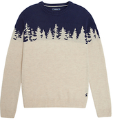 Joules Woodland Jumper Knitted Jumper, Cream/navy