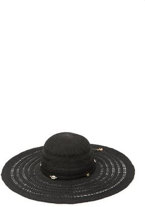 Steve Madden Shell Trim Floppy Hat