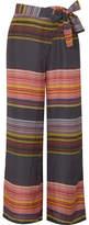 Apiece Apart Raka Striped Silk-habotai Wide-leg Pants