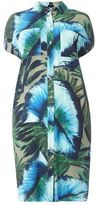 Evans Live Unlimited Multi Coloured Tropical Print Shirt Dress