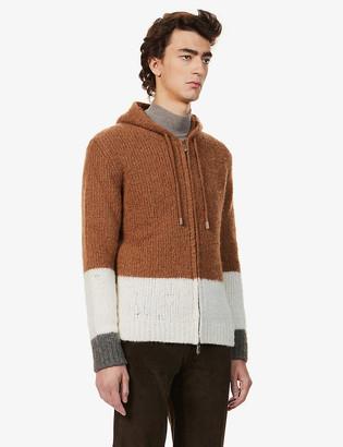 Eleventy Cashmere-, alpaca- and silk-blend hoody