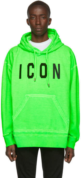 DSQUARED2 Green Fade Dyed Icon Hoodie