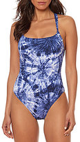 Bleu Rod Beattie Tie Dye Tank Underwire One-Piece