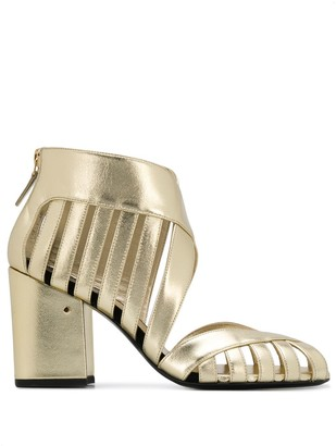Laurence Dacade Alix metallic cut-out detail sandals