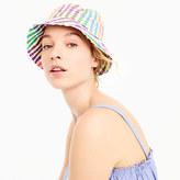 J.Crew Bucket hat in rainbow gingham