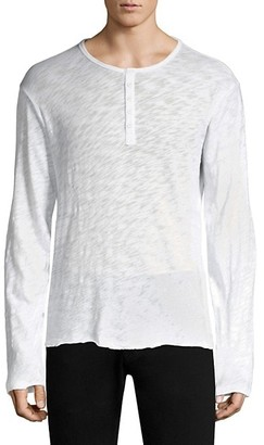 ATM Anthony Thomas Melillo Distressed Henley Top