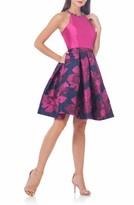 Carmen Marc Valvo Women's Beaded Fit & Flare Dress