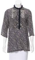 Figue Printed Embellished Tunic w/ Tags