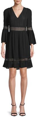 Rebecca Minkoff Merryl Bell-Sleeve A-Line Dress