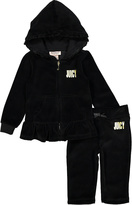 Juicy Couture Black Hood Zip-Up Jacket & Lounge Pants - Infant & Girls