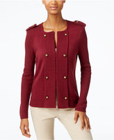 Cable & Gauge Military Sweater Jacket