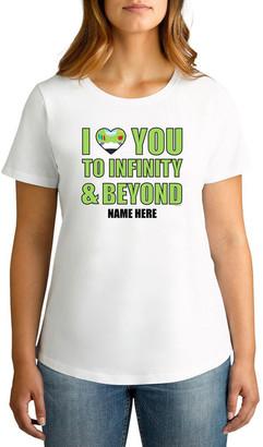 Twidla Personalised T Shirts TWIDLA Personalised T-shirts Women's Valentine's Day Toy Story Infinity & Beyond Personalised Cotton T-Shirt